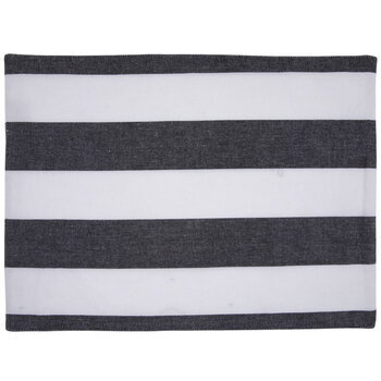 Gray & White Striped Placemat