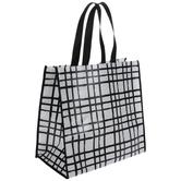 Black & White Plaid Tote Bag