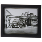 Vintage Gas Station Framed Wall Decor