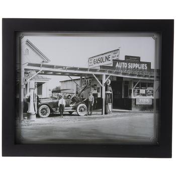 Vintage Gas Station Framed Wall Decor