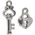 Heart Lock & Key Charms