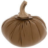 Faux Leather Pumpkin