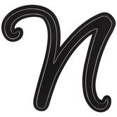 Black Letter Sticker - N