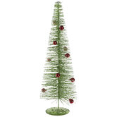 Green Glitter Bristle Tree - Medium