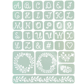 Charlotte Letters Adhesive Stencils