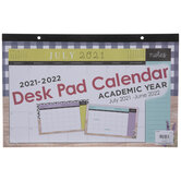 2021 - 2022 Farmhouse Desk Pad Calendar - 12 Months