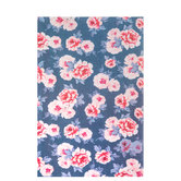 Gray & Pink Floral Stiffened Felt Sheet