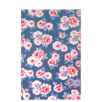 Gray & Pink Floral Stiffened Felt Sheet