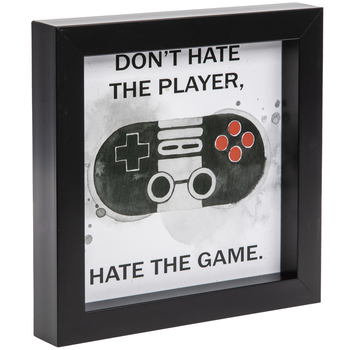 Don't Hate The Player Wood Wall Decor