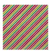 Red, Green & White Diagonal Striped Gift Wrap