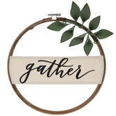 Gather Embroidery Hoop Wall Decor