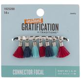 Red & Blue Thread Tassel Connector