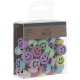 Pastel Rainbow Smile Beads