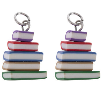 Book Stack Charms