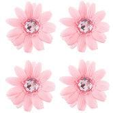 Soft Pink Mini Gerbera Flowers With Gems