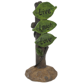 Live Laugh Love Leaves Sign