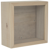 Square Wood Shadow Box