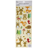 Woodland Animals Glitter Stickers