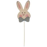 Bow Tie Bunny Head Wood Pick
