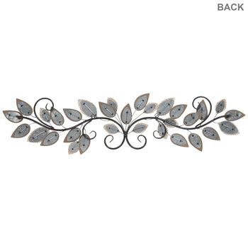 Burlap Leaves Metal Wall Decor