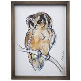 Watercolor Owl Wood Wall Decor