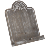 Vintage Floral Wood Tablet Stand