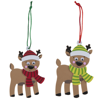 Reindeer Ornaments Foam Craft Kit