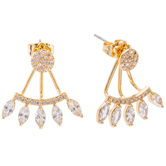 Rhinestone Jacket Earrings