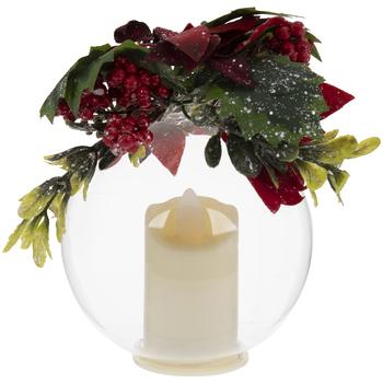 Mistletoe & Globe LED Candle Ornament