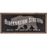 Hibernation Station Wood Wall Decor