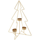Gold Wire Tree Metal Candle Holder