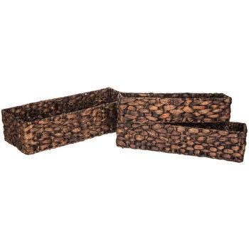 Brown Rectangle Basket Set