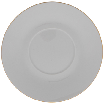 White & Gold Saucer Plate