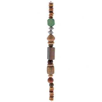 Multi Wood Bead Strand