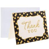 Black & Gold Foil Thank You Cards