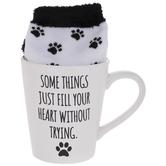 Fill Your Heart Paw Print Mug & Socks