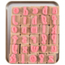Lower Case Party Ink Alphabet Rubber Stamps