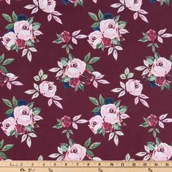 Berry Rose Apparel Fabric