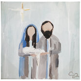 Holy Family Painted Canvas Wall Decor