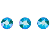 Blue Zircon Shimmer Swarovski Xirius Flat Back Hotfix Crystals - 12ss