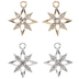 Rhinestone Star Charms