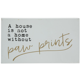 Paw Prints Wood Decor