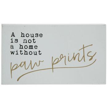 Paw Prints Wood Decor