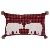 Red & Black Buffalo Check Bear Pillow