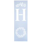 Home Wreath Stencil