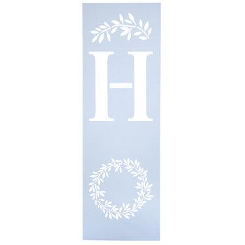 Home Wreath Stencil