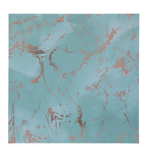 "Teal & Rose Gold Marble Scrapbook Paper - 12"" x 12"""