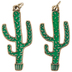 Green Cactus Pendants