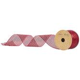 "Metallic Deco Mesh Ribbon - 2 1/2"""