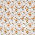 Orange Floral Cotton Fabric